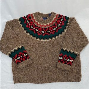 Vintage Gap hand knit wool sweater